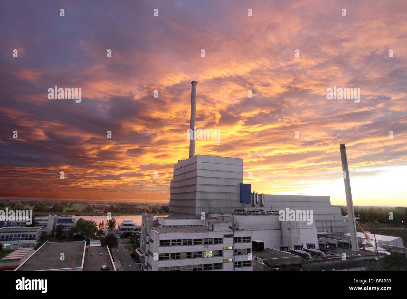Atomic power plant Kruemmel, run by the company Vattenfall, Germany - Stock Image