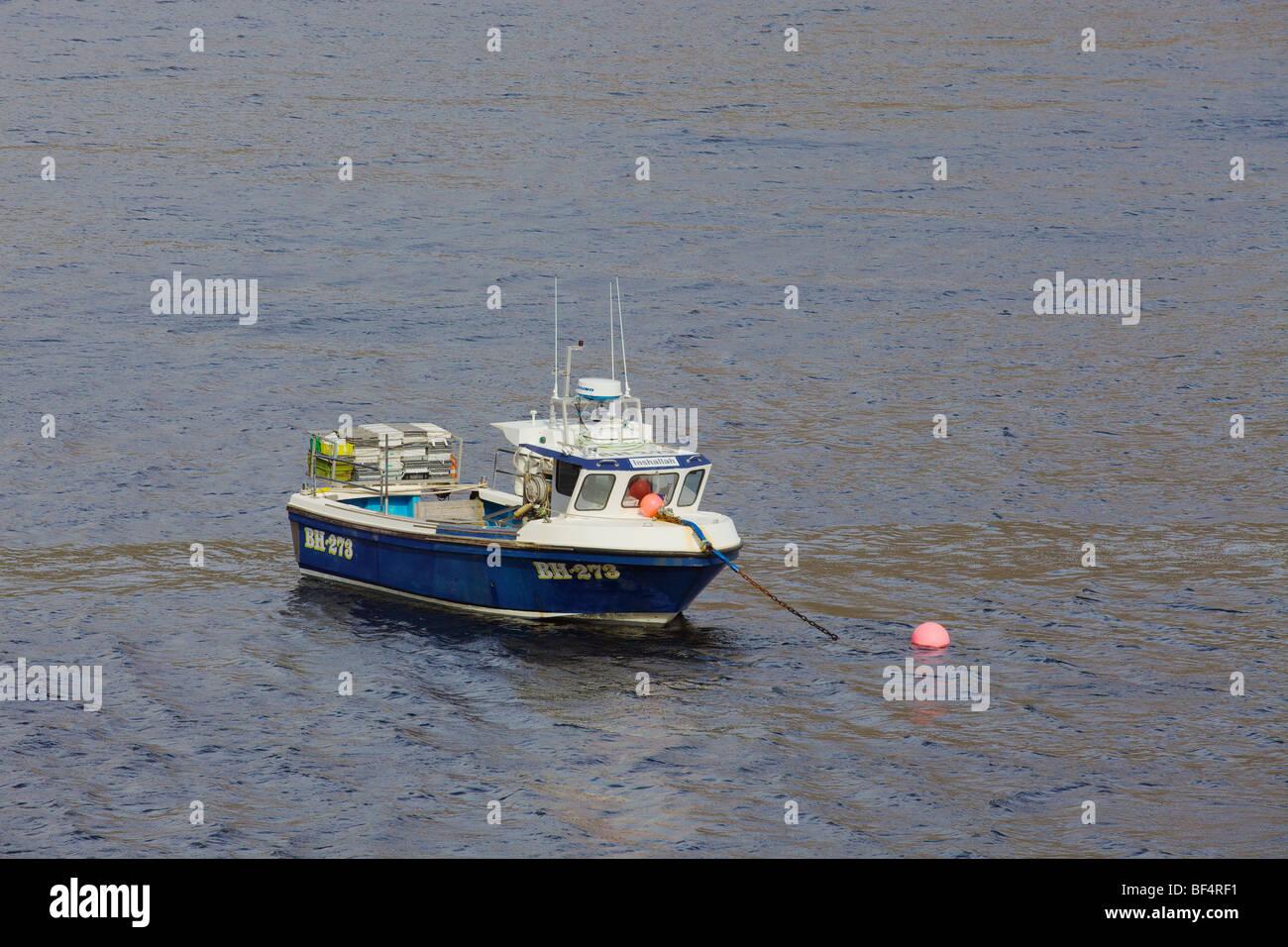 Fishing Boats on Loch Slapin, Isle of Skye, Inner Hebrides, Scotland - Stock Image