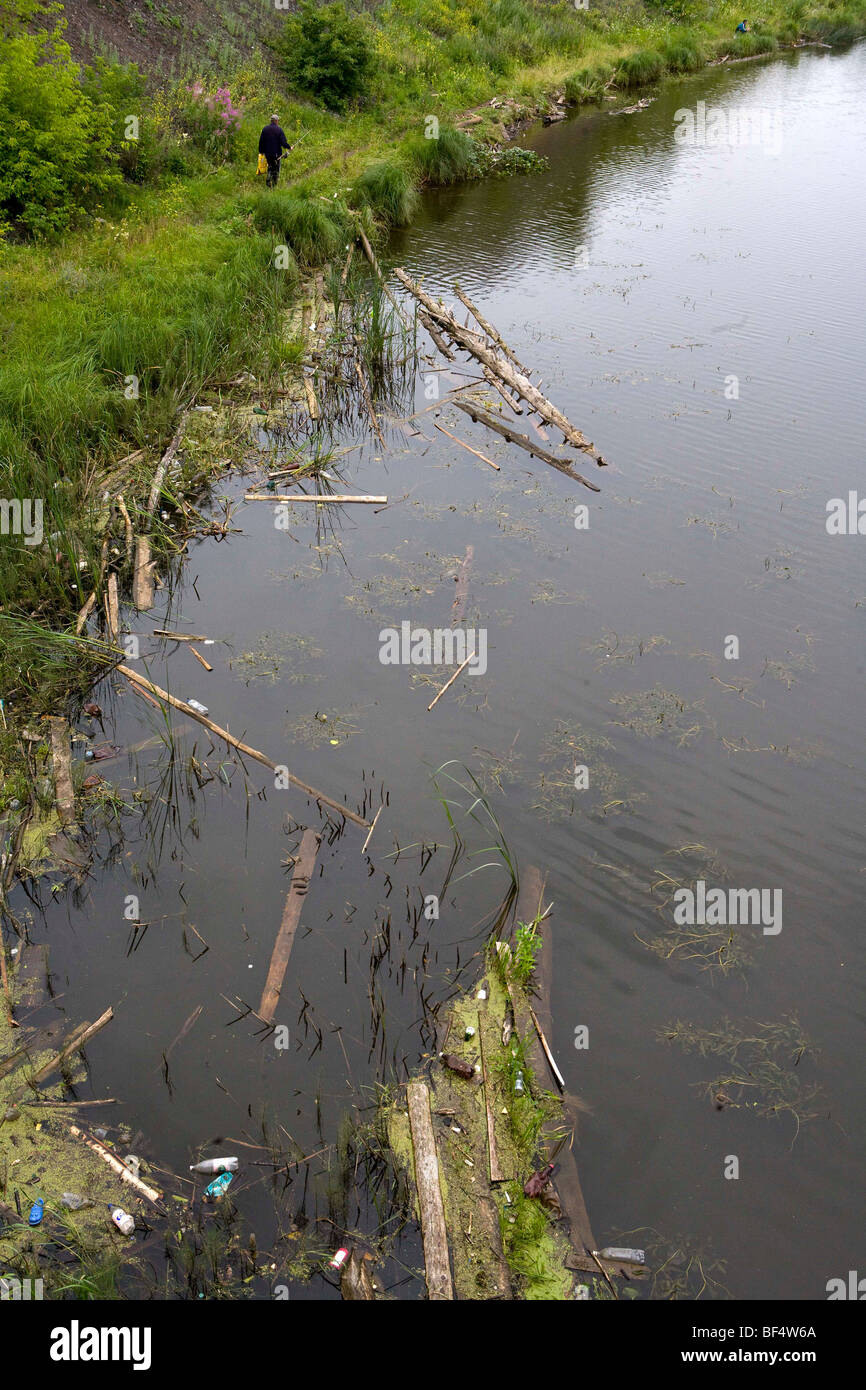 a polluted river in the urals - Stock Image