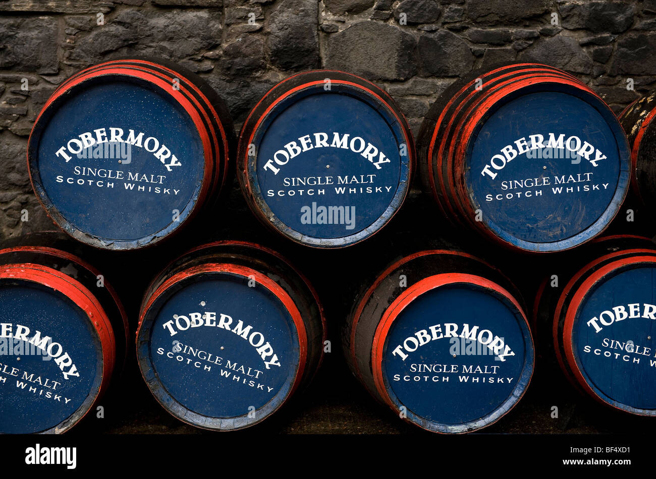 tobermory whisky distillery, isle of mull, scotland - Stock Image