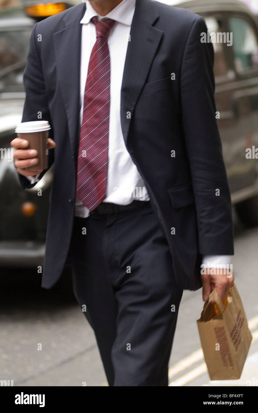 London city office worker. UK HOMER SYKES - Stock Image