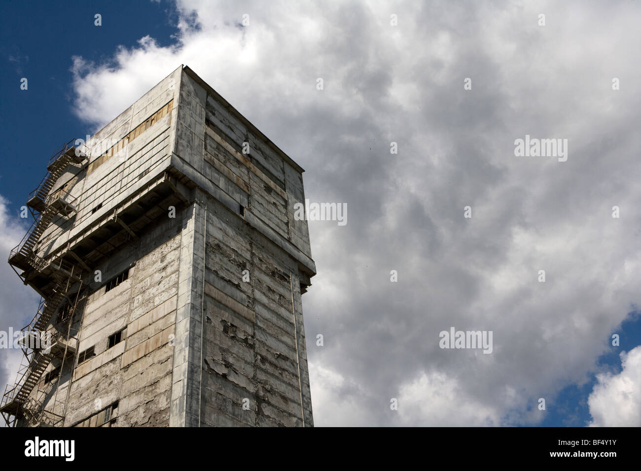 Imposing industrial tower structure of factory, Russia - Stock Image