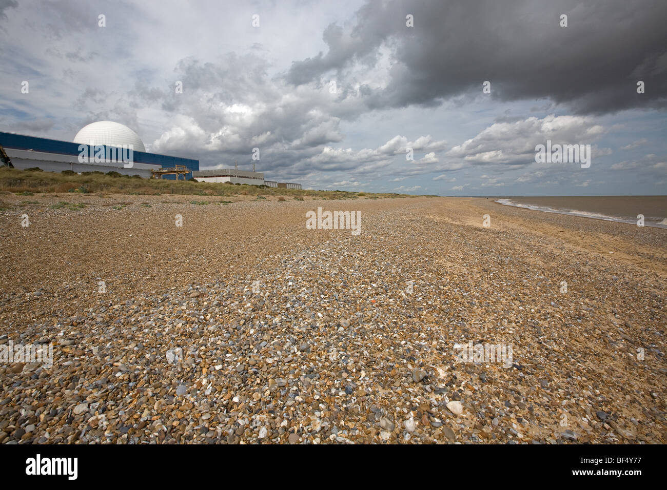 Sizewell Nuclear Power Station in Suffolk - Stock Image