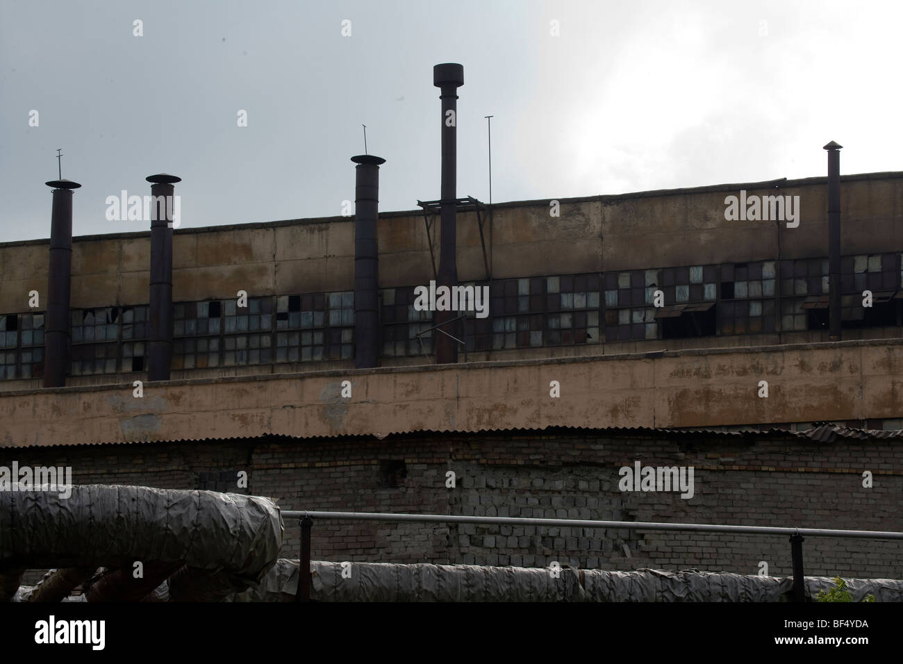abandoned factories Tagil, ural industrial area russia - Stock Image