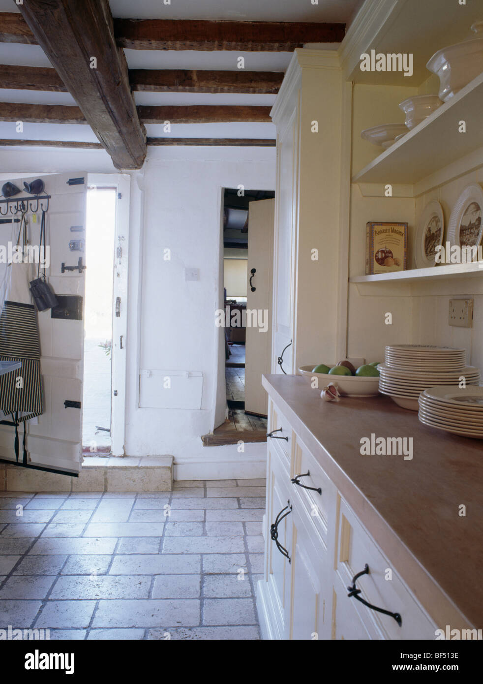 Limestone Floor Kitchen Stock Photos & Limestone Floor Kitchen Stock ...