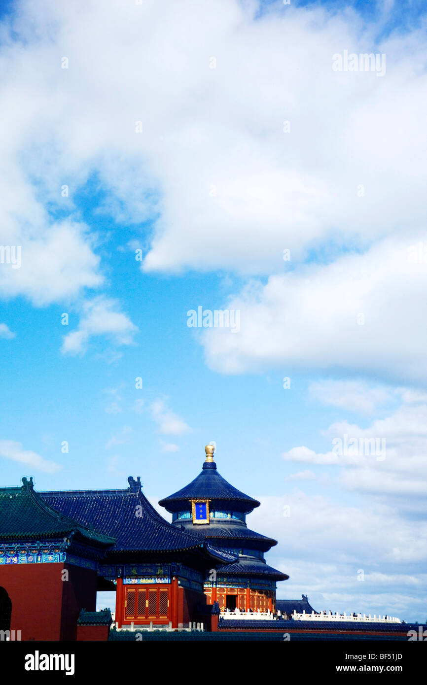 Architectures in The Temple of Heaven, Beijing, China - Stock Image