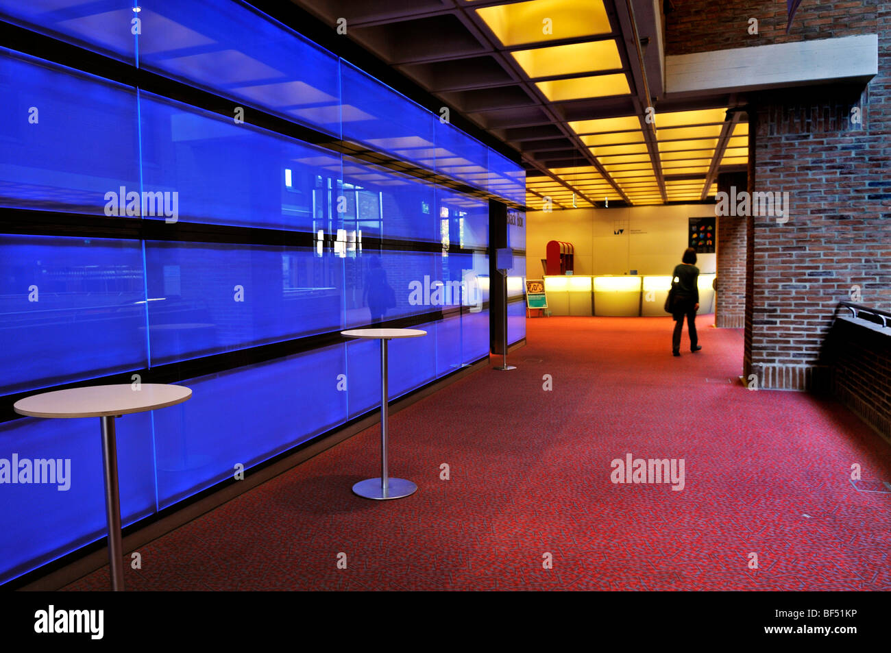 Foyer of the Black Box, Gasteig Cultural Centre, Munich, Bavaria, Germany, Europe - Stock Image
