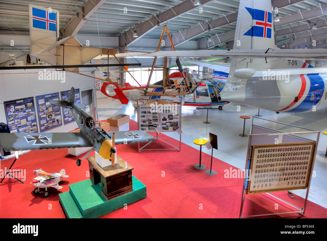 The Aviation Museum in Akureyri, Iceland - Stock Image