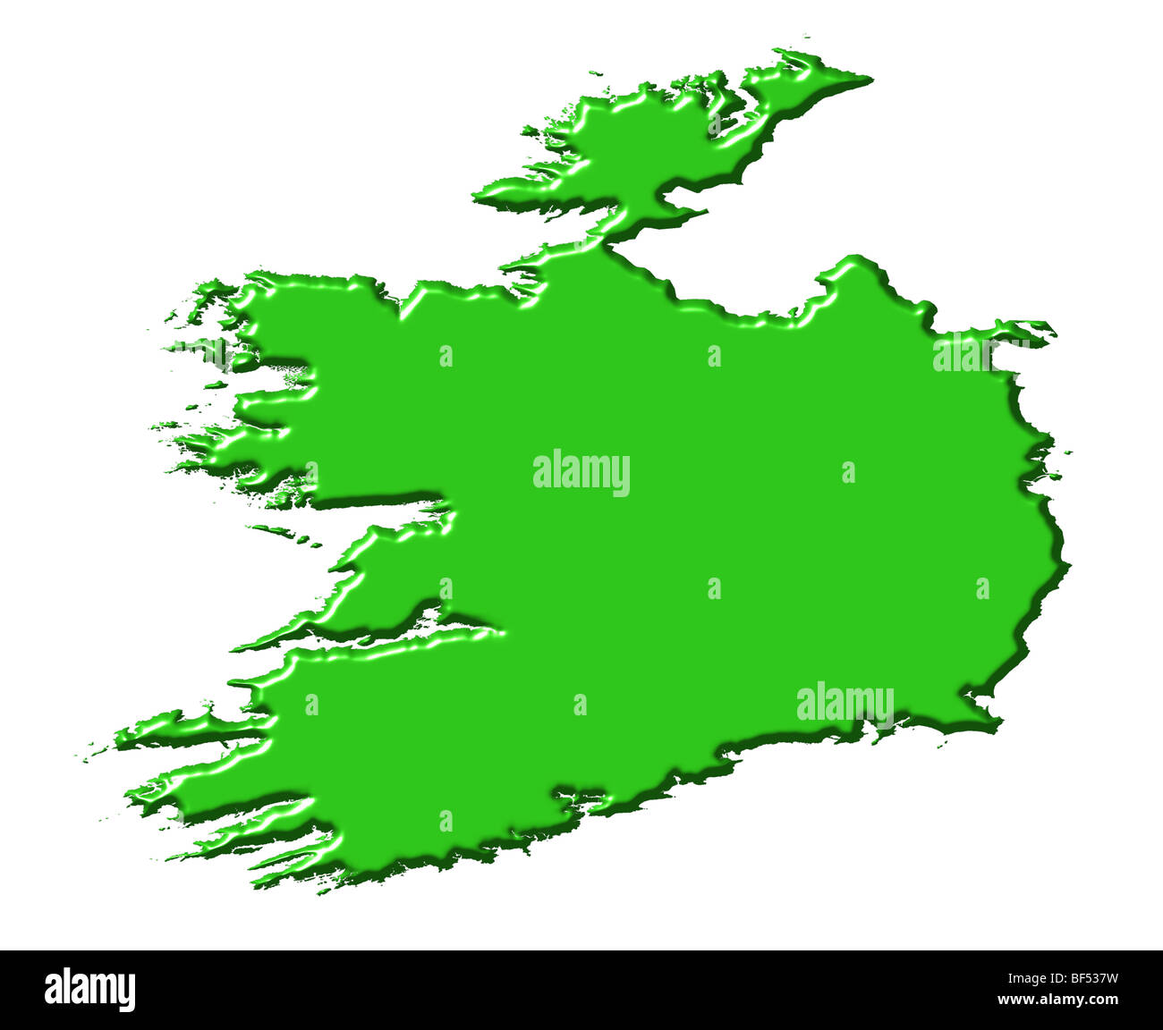 Map Of Ireland 3d.Ireland 3d Map With National Color Stock Photo 26542541 Alamy