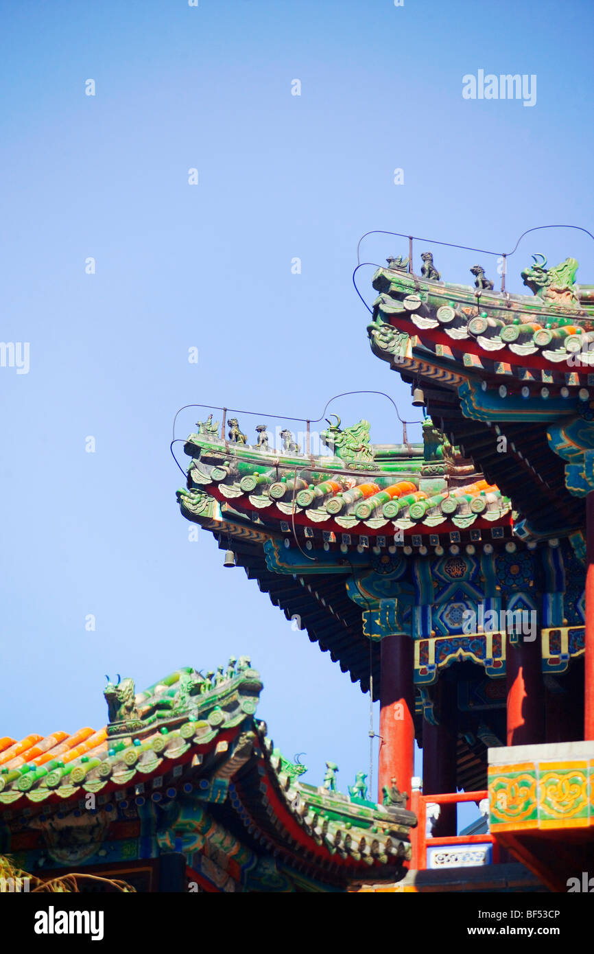 Glazed Roof Tiles Of Wenchang Tower Summer Palace Beijing China Stock Photo Alamy