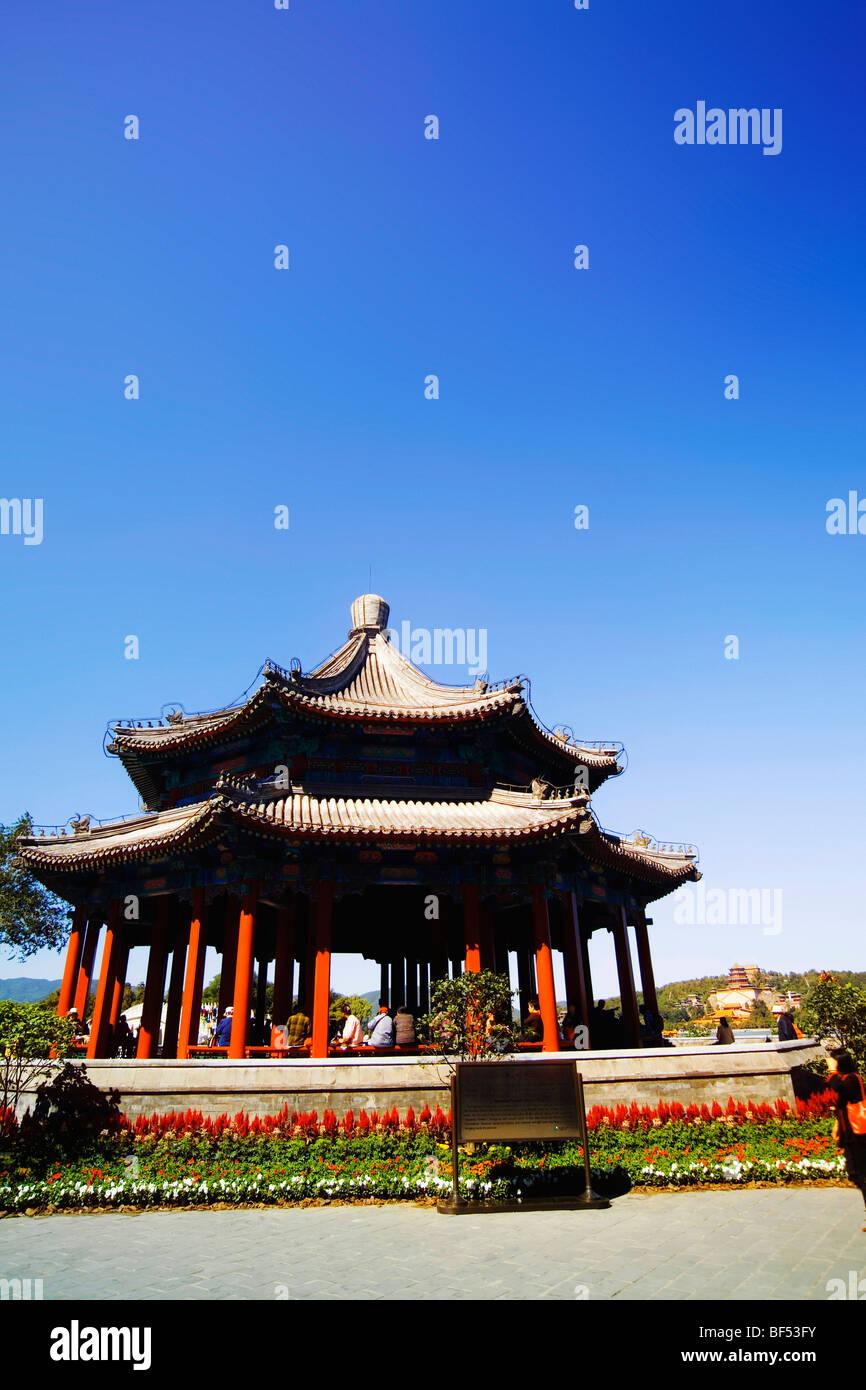Spacious Pavilion, Summer Palace, Beijing, China - Stock Image