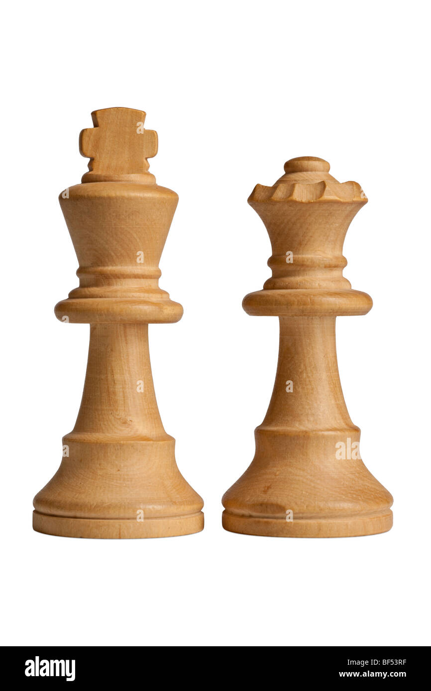 King & Queen Chess Pieces Stock Photo