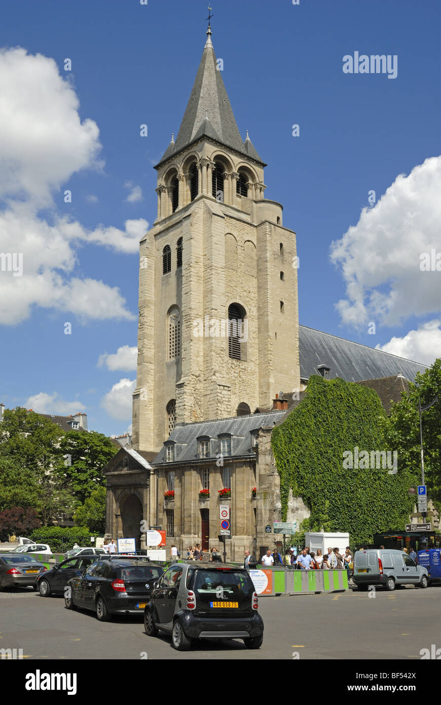 Church of St-Germain-des-Pres, Paris, France - Stock Image
