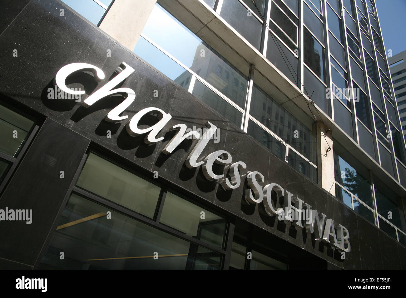Charles Schwab logo. No property release. Editorial usage only. - Stock Image