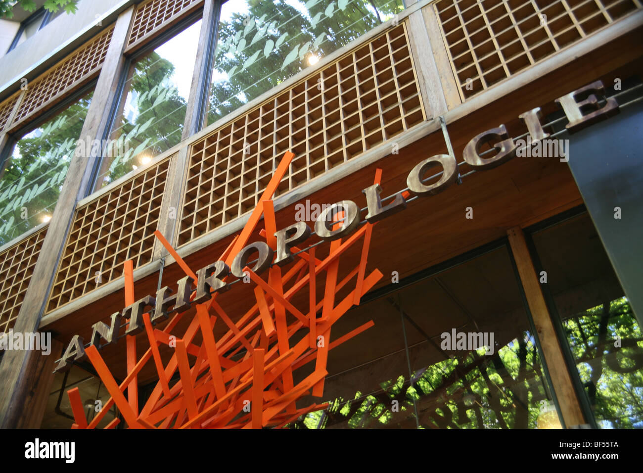 Exterior of Anthropologie store. No property release ...