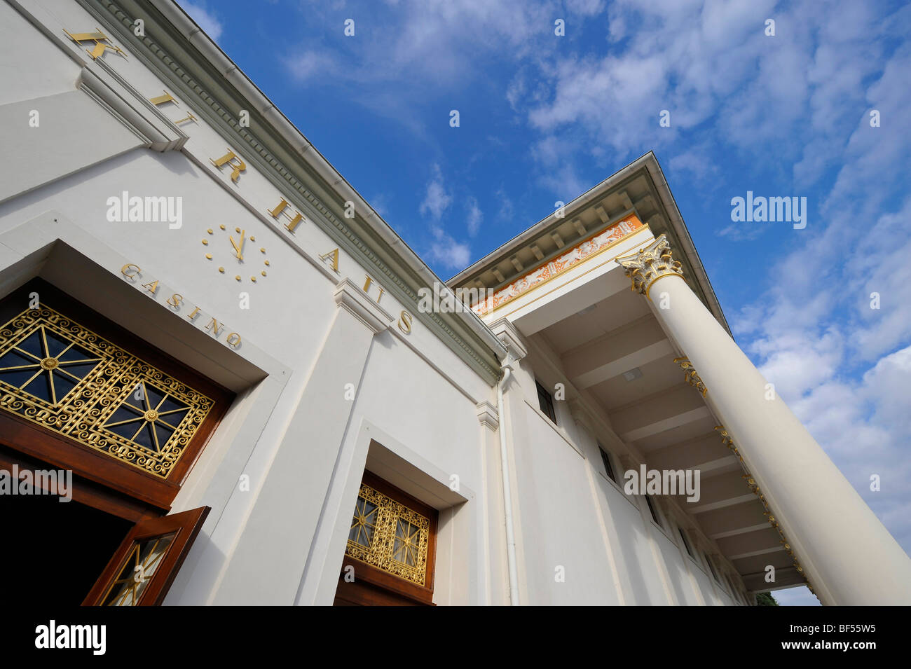 Entrance of the spa hotel with casino Baden-Baden, Baden-Wuerttemberg, Germany, Europe - Stock Image