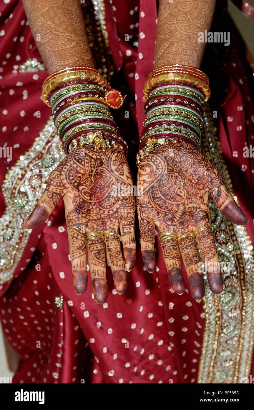 India Gujarat. An Indian Bride. - Stock Image