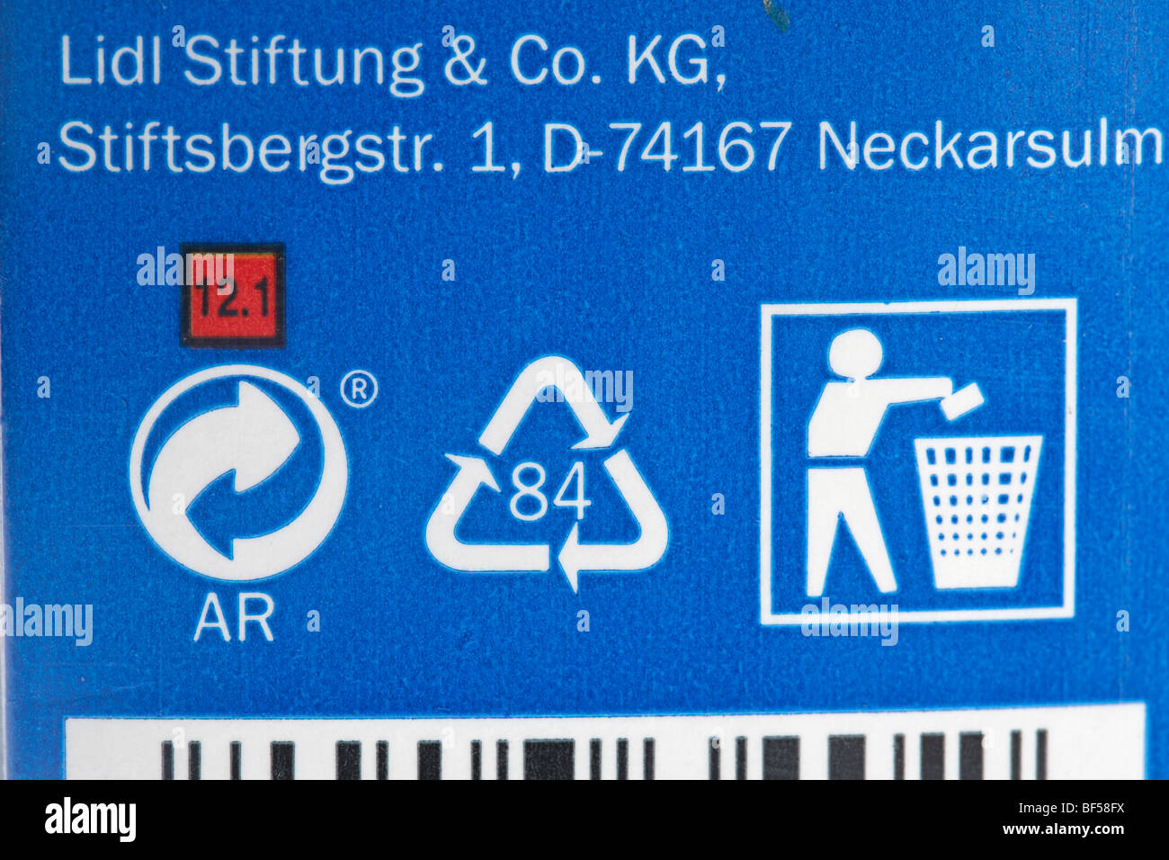 Recycling Symbols On Product Packaging Stock Photos Recycling