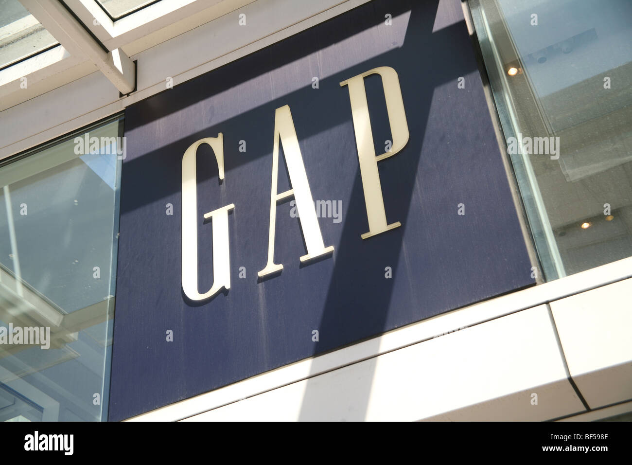 Exterior of Gap store. No property release. Editorial usage only. - Stock Image