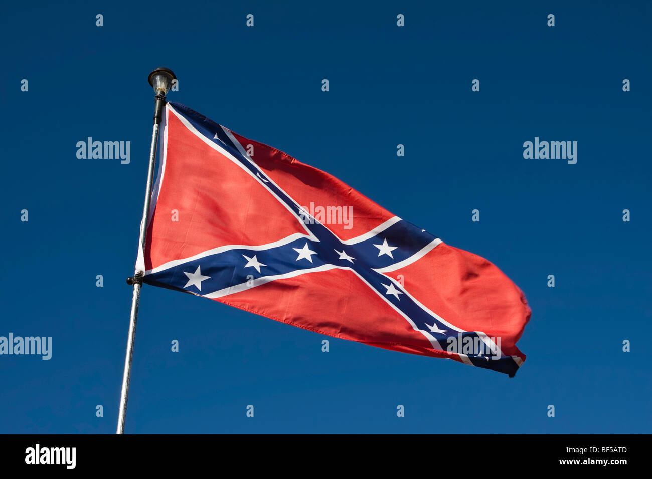 Flag of the Southern States of the United States of America - Stock Image