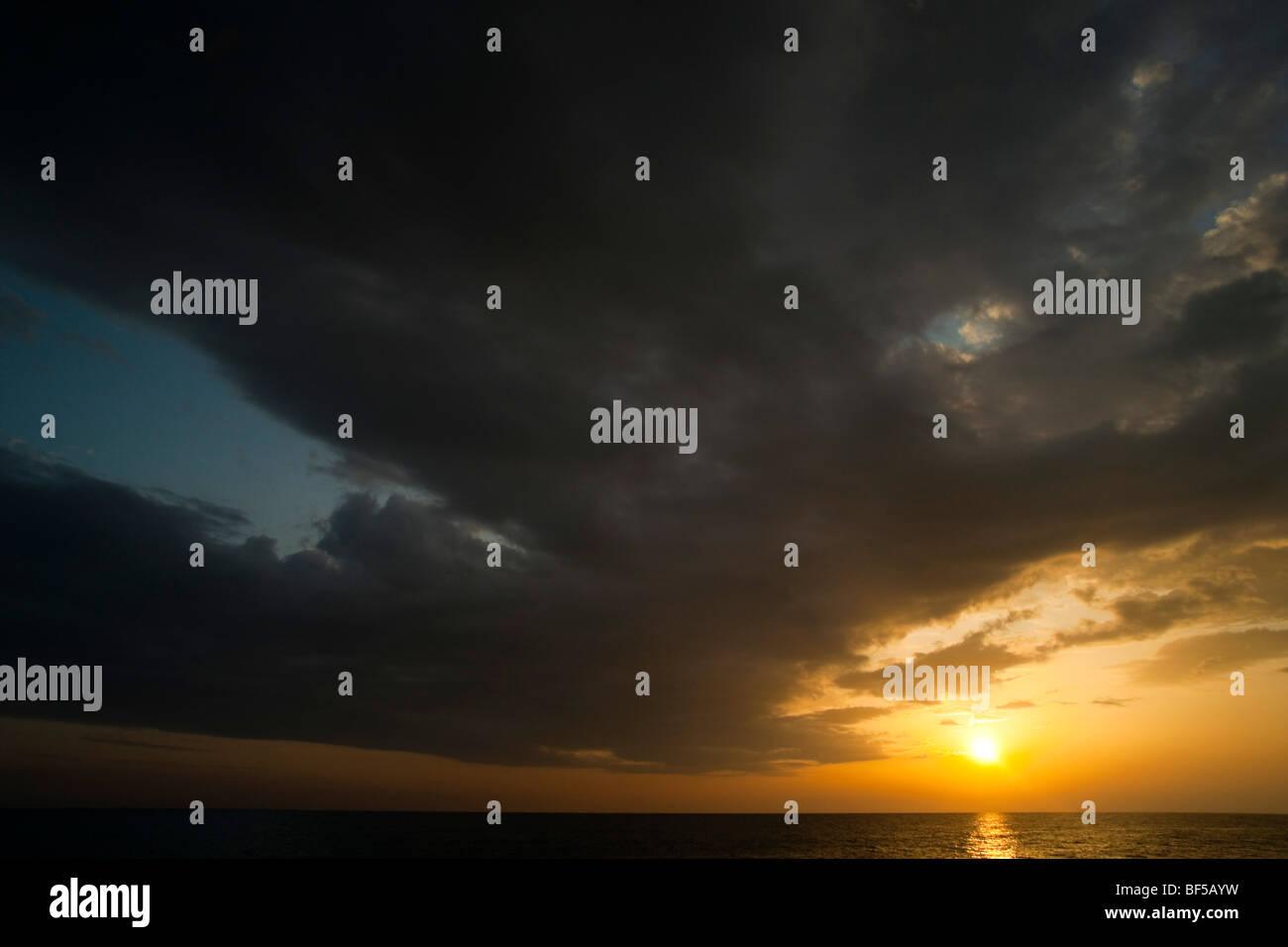 Sunset on Kefalonia - from Kounopetra - Stock Image