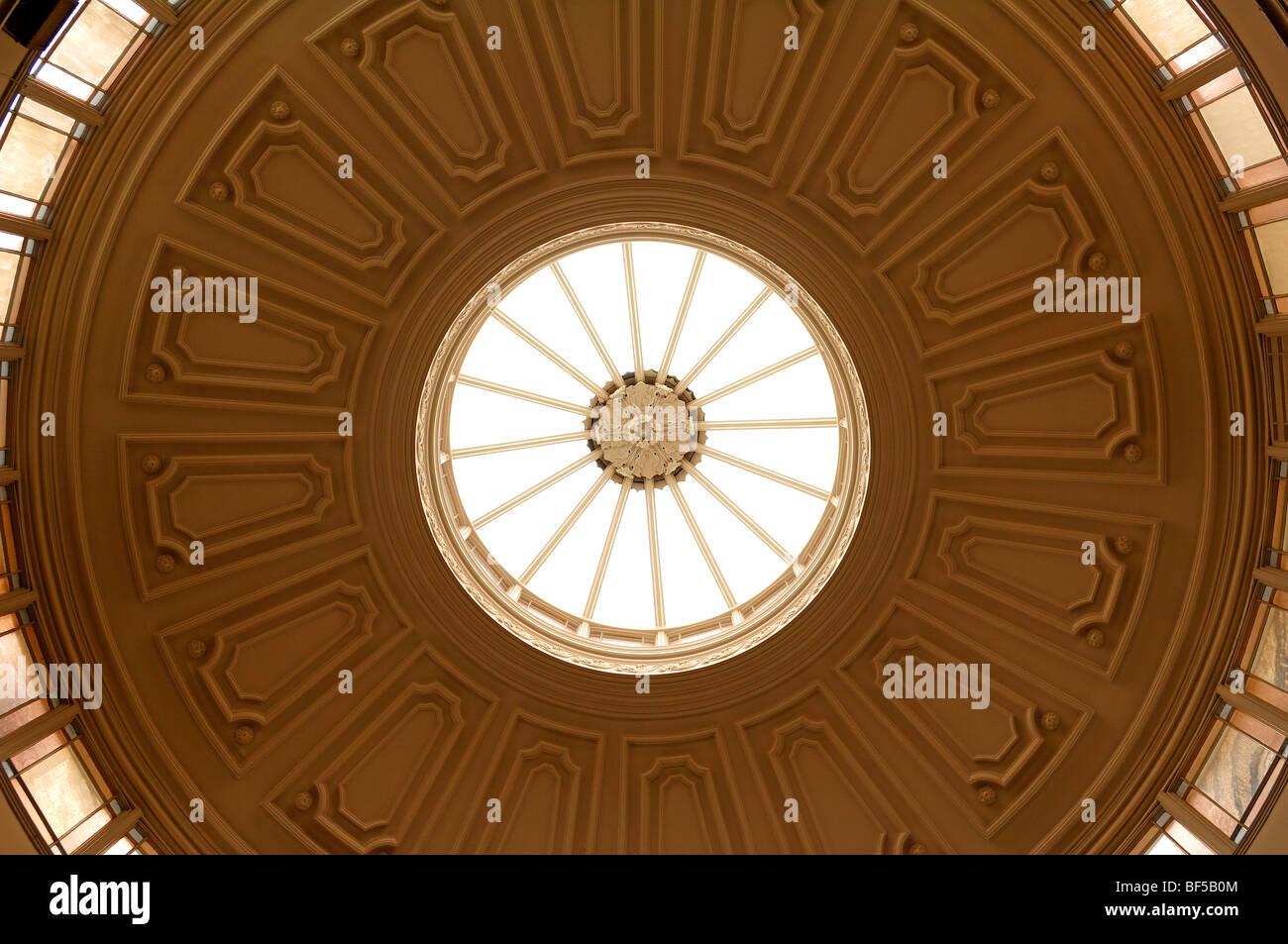Old dome of the Free Library, Lion Yard, Cambridge, Cambridgeshire, England, United Kingdom, Europe - Stock Image