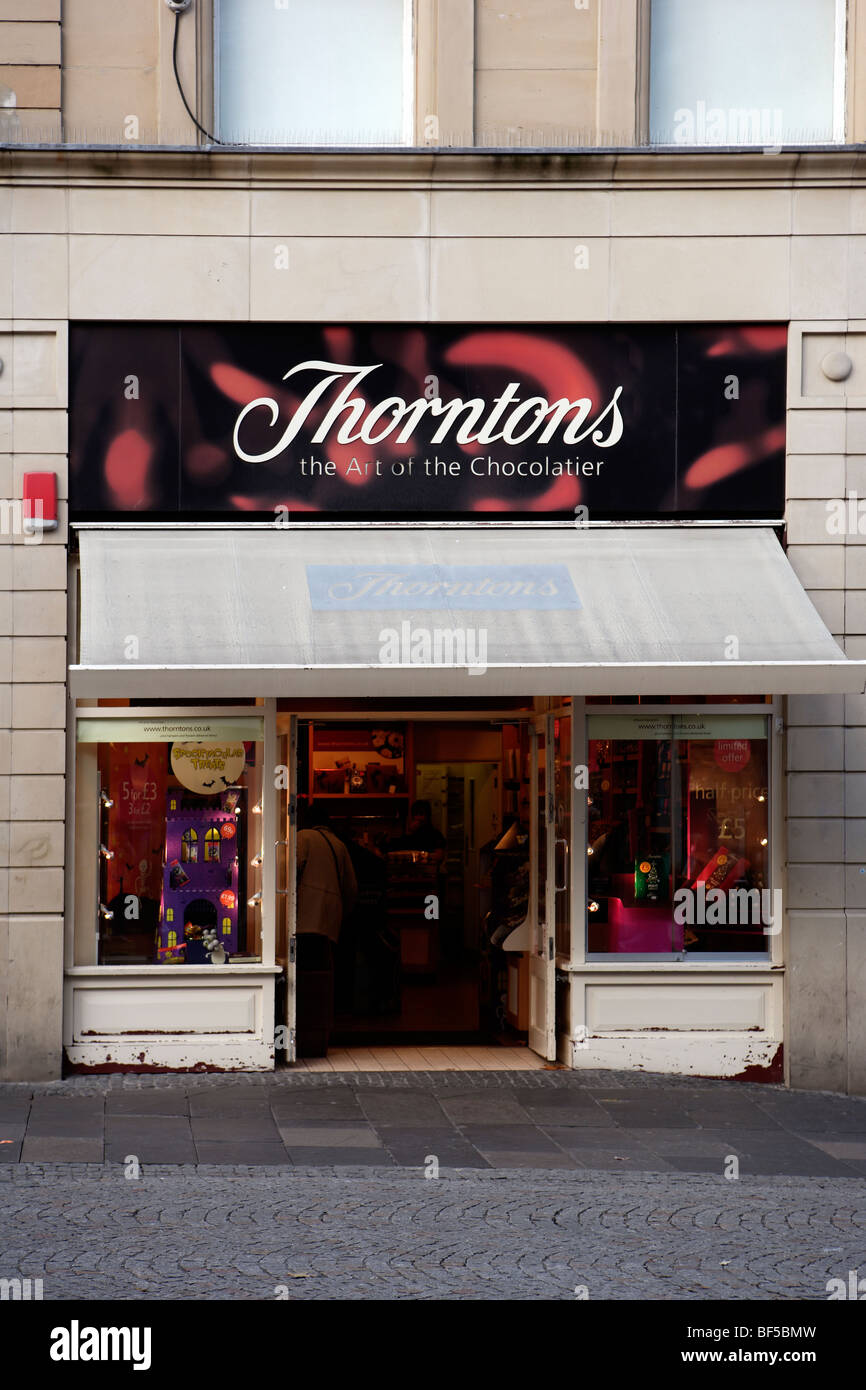 Thorntons Chocolate Shop facade - Stock Image