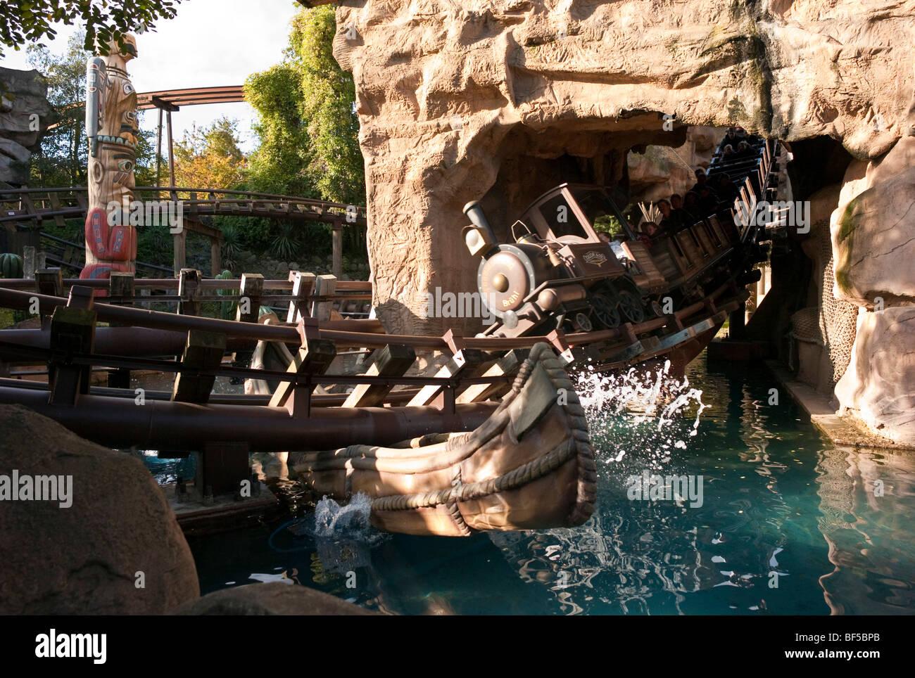 Phantasialand theme park, theme park, MEXICO, COLORADO ADVENTURE attraction, roller coaster, Bruehl, Nordrhein-Westfalen, Stock Photo