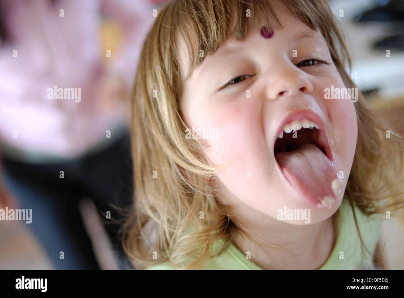 Licking my ice cream