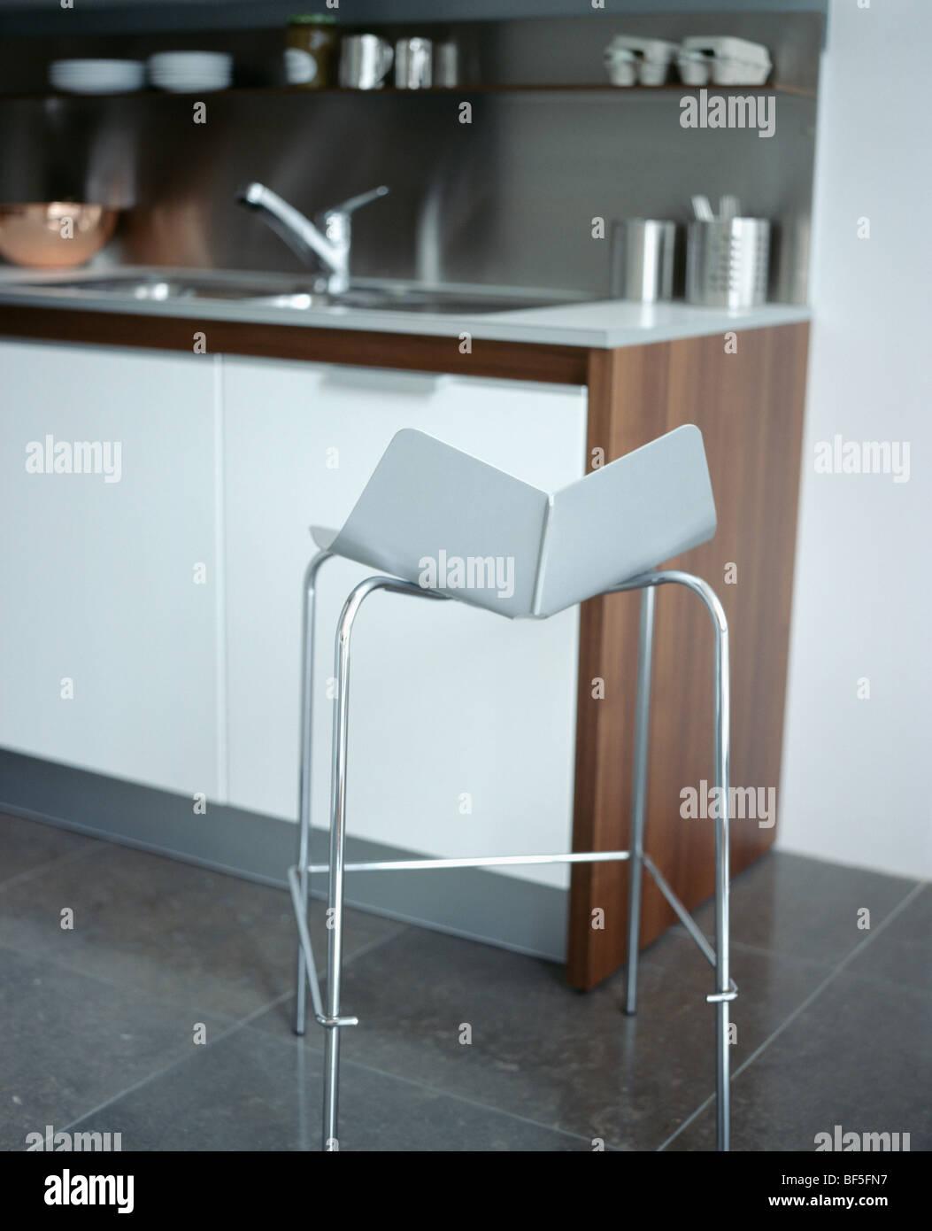 Kitchen Stool Furniture Monochromatic Stock Photos & Kitchen Stool ...