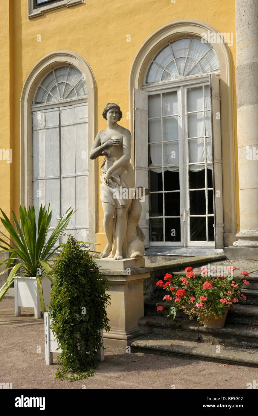 Detail, Mosigkau Palace, Dessau, Saxony-Anhalt, Germany, Europe Stock Photo