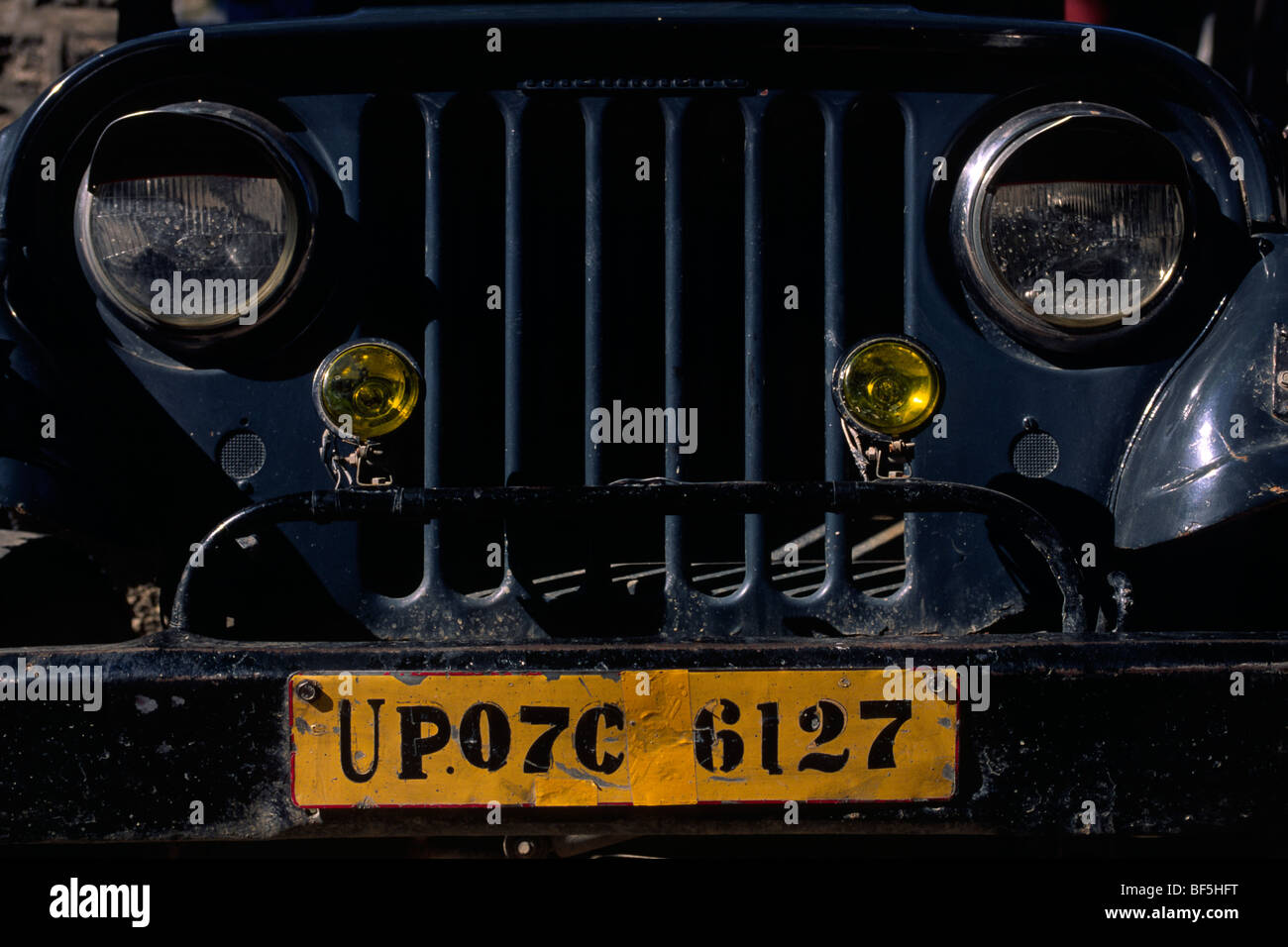 india, uttarakhand, rishikesh, car plate - Stock Image