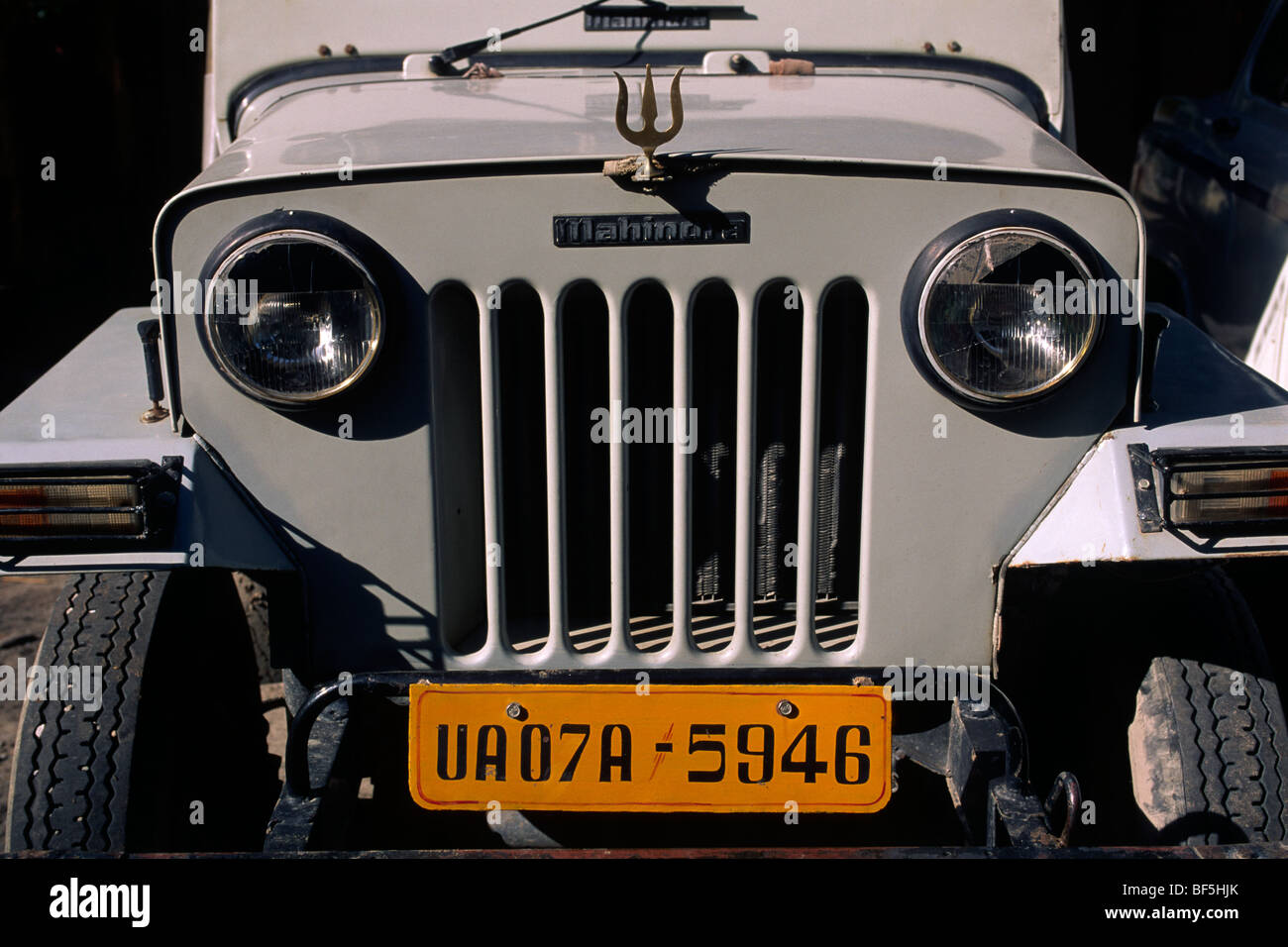 india, rishikesh, car plate - Stock Image