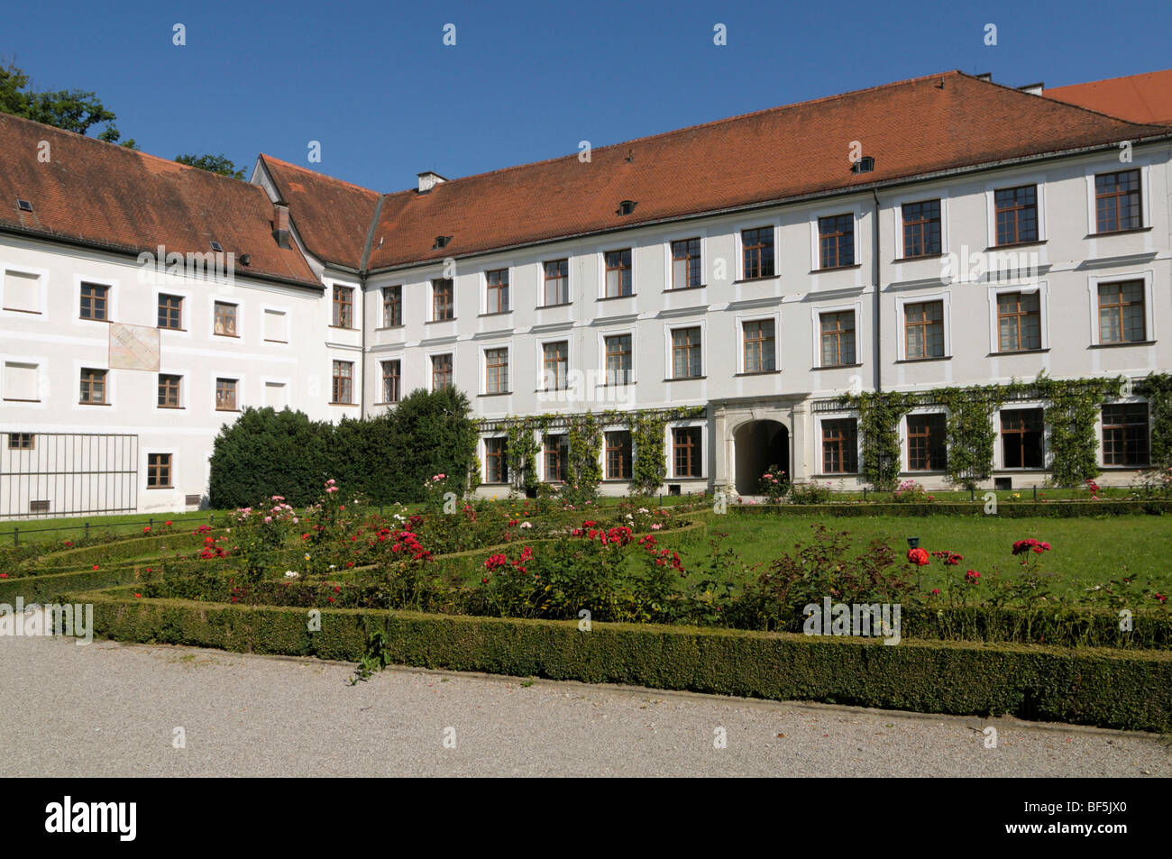 Augustine Monastery Herrenchiemsee, Old Palace, Herreninsel, Gentleman's Island, Lake Chiemsee, Bavaria, Germany, - Stock Image