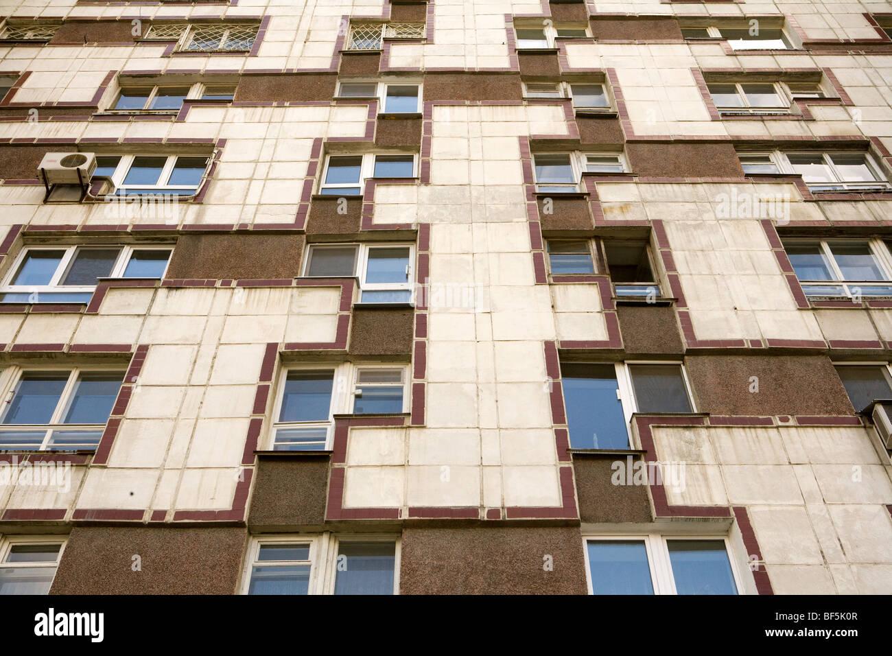 Soviet era apartment block, Yekaterinburg - Stock Image