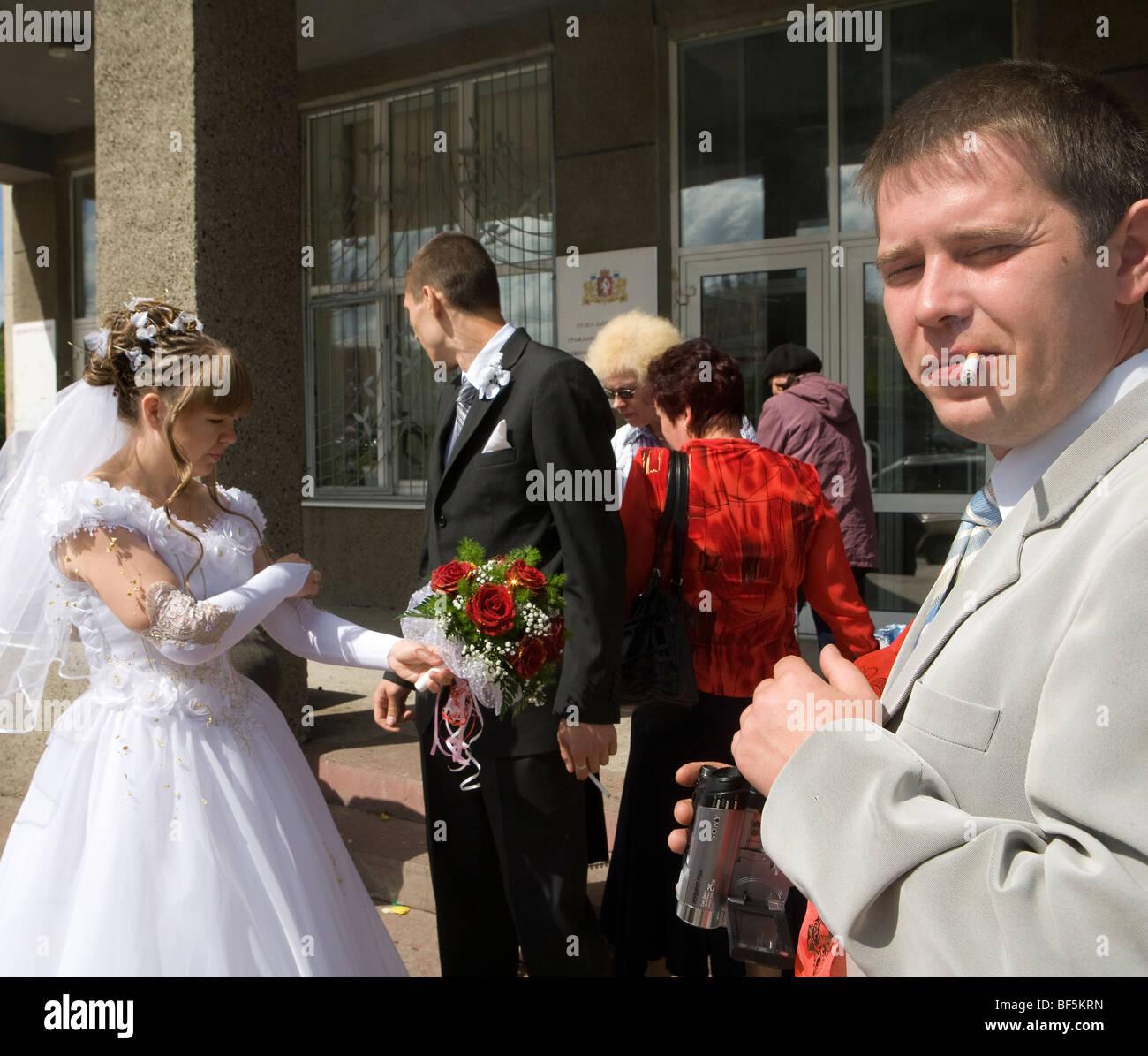 Ural Mash Wedding Yekaterinburg Russia Stock Image: Smoking Brides Wedding Dress At Websimilar.org