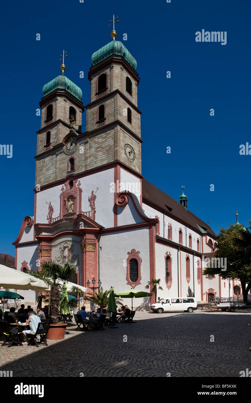 Fridolin Minster, cathedral square, Bad Saeckingen, Waldshut district, Baden-Wuerttemberg, Germany, Europe Stock Photo