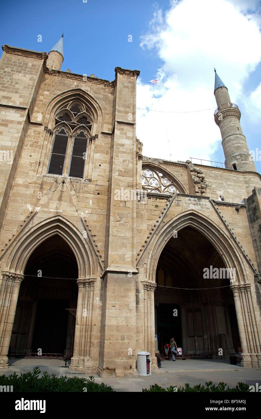 The Selima Mosque in North Nicosia Cyprus Stock Photo