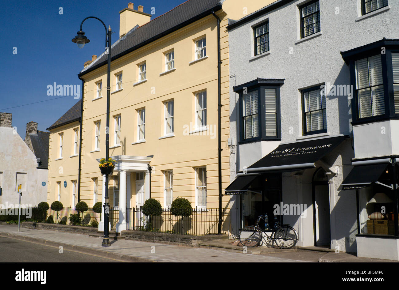 town house, high street, cowbridge, vale of glamorgan, south wales - Stock Image