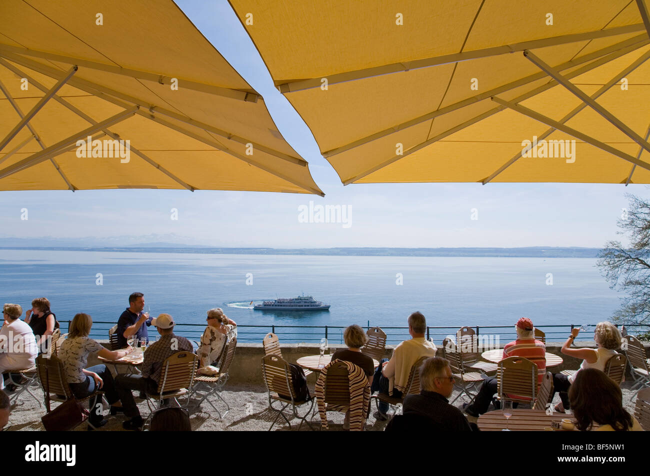 Meersburg Panorama Lake Constance Stock Photos & Meersburg Panorama ...