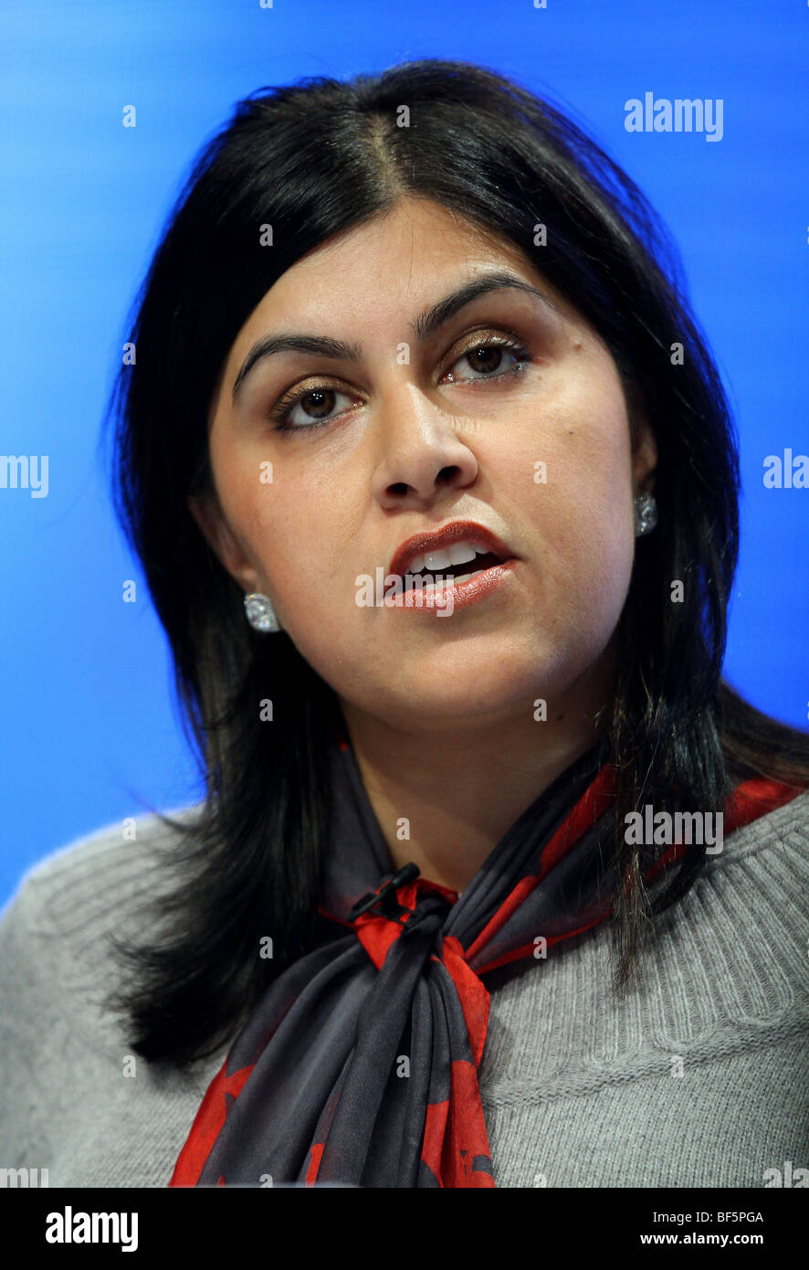 SAYEEDA WARSI MP SHADOW MINISTER FOR COMMUNITY 05 October 2009 MANCHESTER CENTRAL MANCHESTER ENGLAND - Stock Image