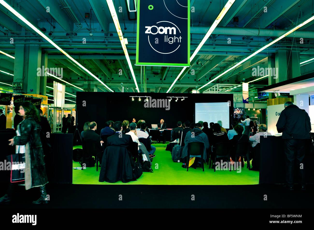 Paris, France, Construction Equipment Trade Show, Salon Batimat, Business meeting, Lighting 'Sustainable Buil - Stock Image