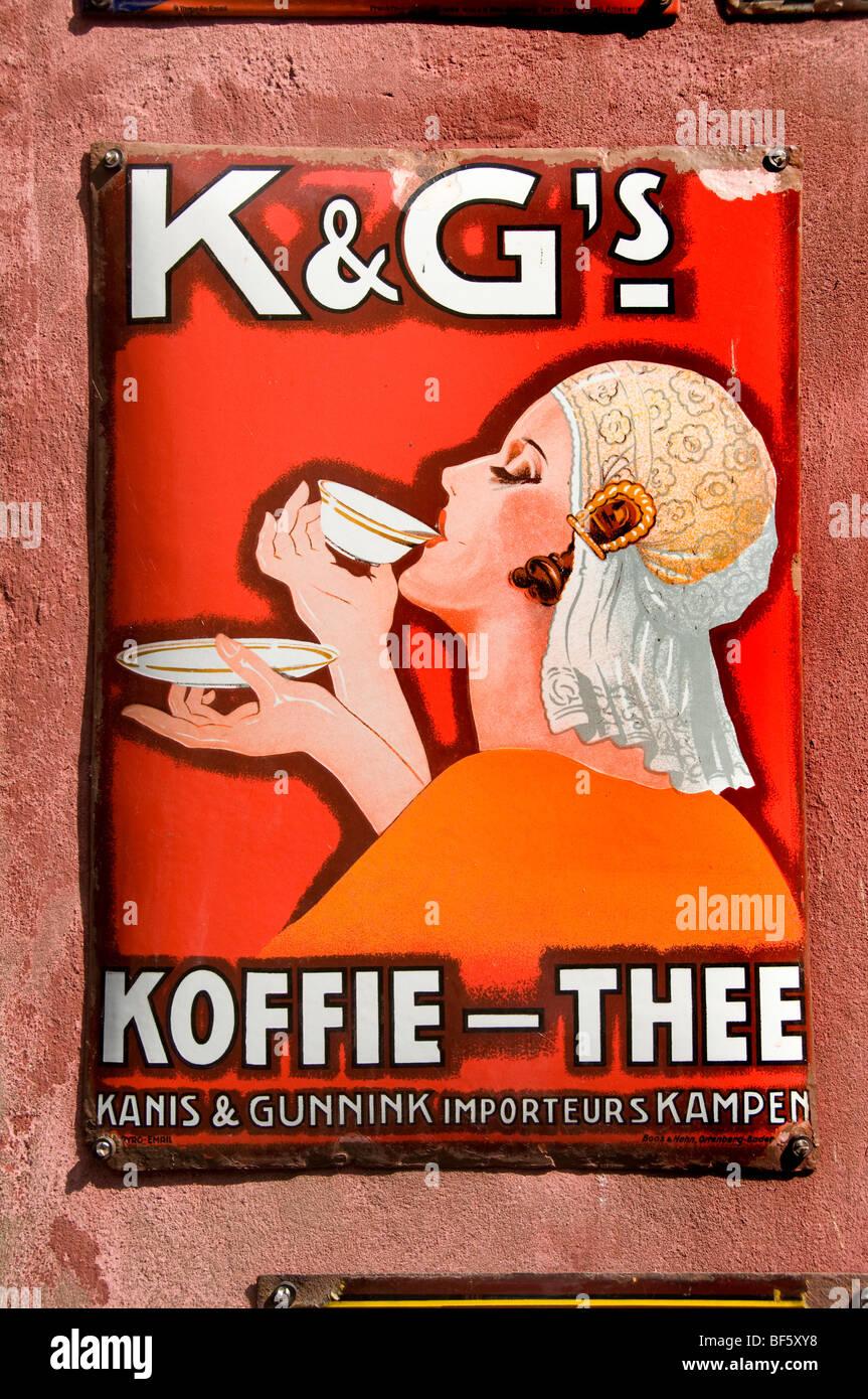 Kanis en Gunnink Koffie Thee Netherlands Zuiderzee museum - Stock Image