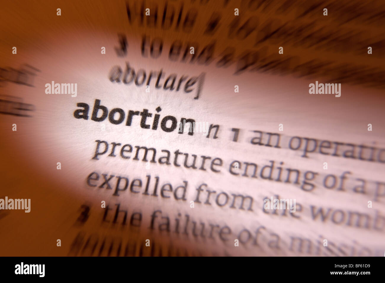 Concept - Abortion - Stock Image