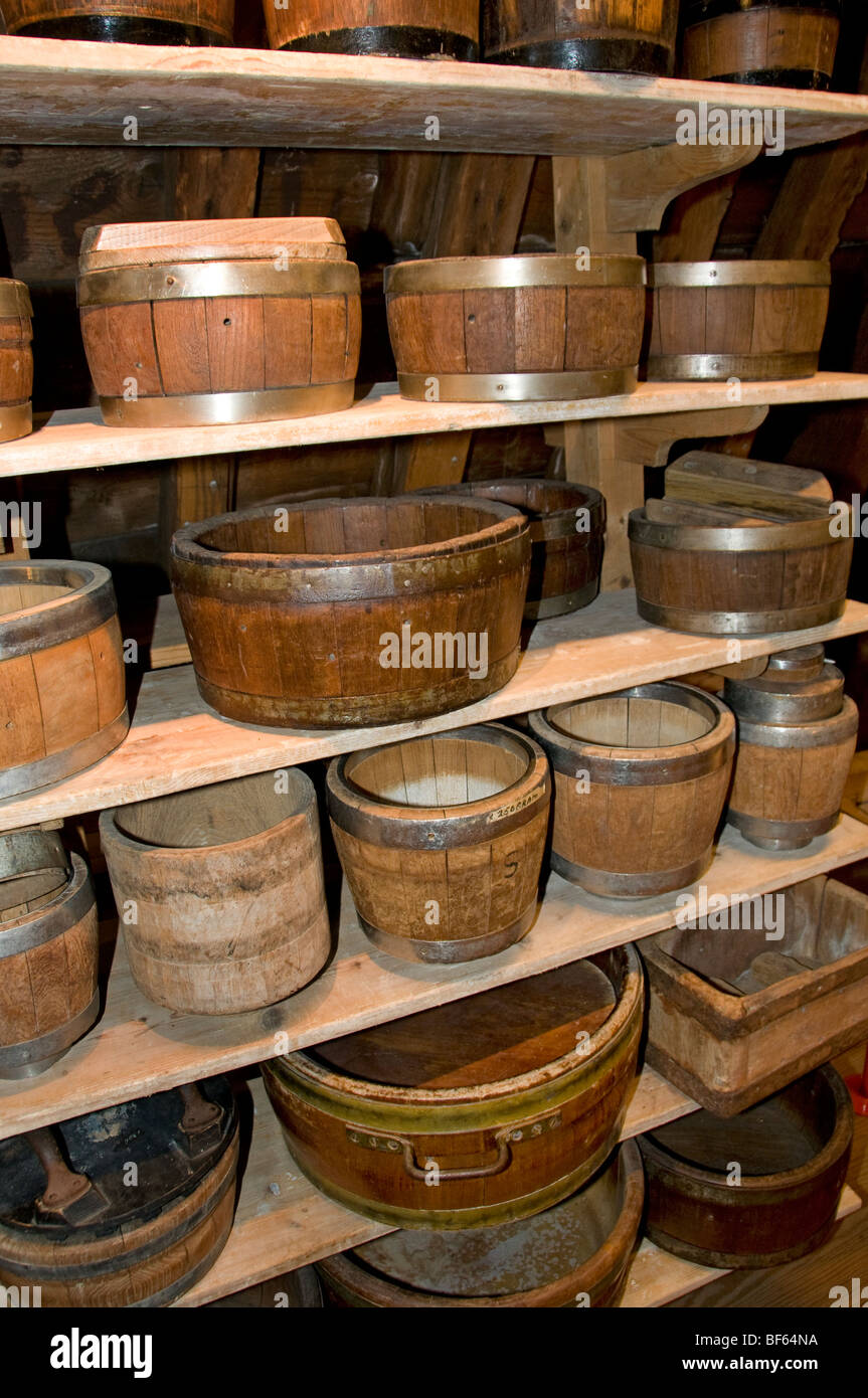 Alkmaar Netherlands Holland Showcase cheese moulds - Stock Image