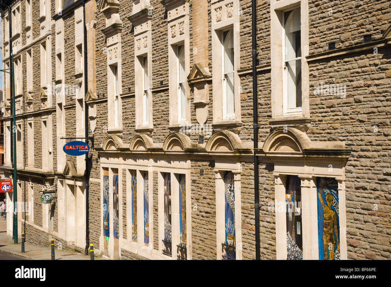 Side elevation of the historic Westgate Hotel in city of Newport South Wales UK - Stock Image