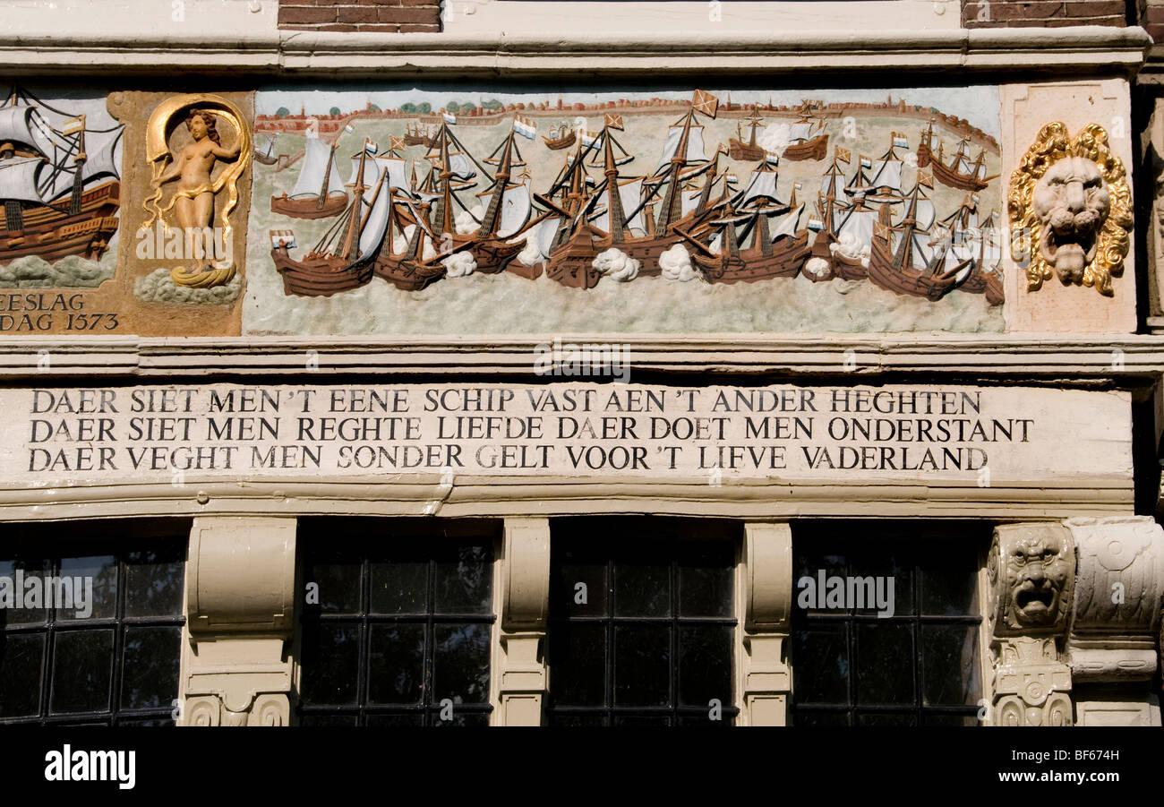 Hoorn netherlands holland façade antique plaque - Stock Image