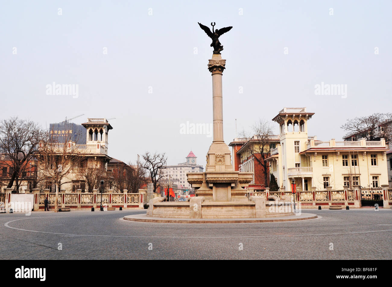 Sculpture in Marco Polo Square, Italian Travel Street, Tianjing, China - Stock Image