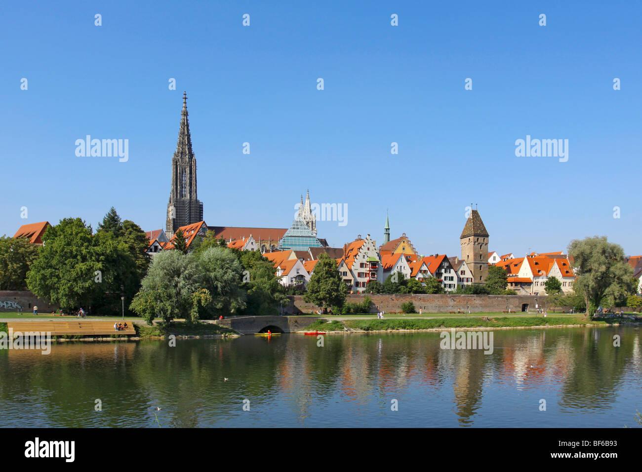 Deutschland, Stadtansicht von Ulm an der Donau, Germany Cityscape of Ulm at the Danube Stock Photo