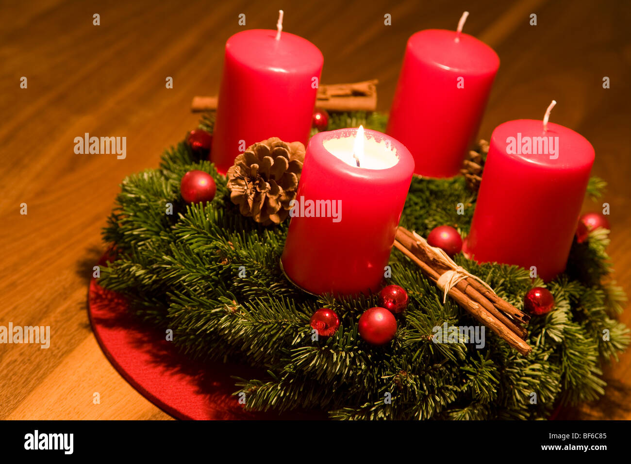 Advent Wreath First Sunday Of Advent Burning Candle Christmas